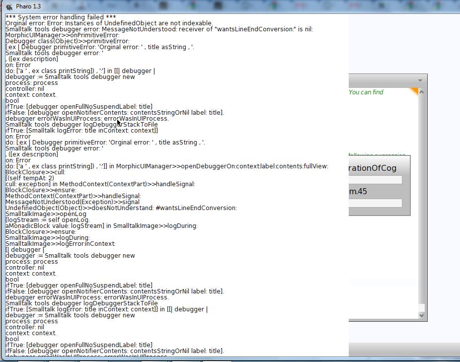 Error while loading VMMaker in Pharo-1.3-OneClick