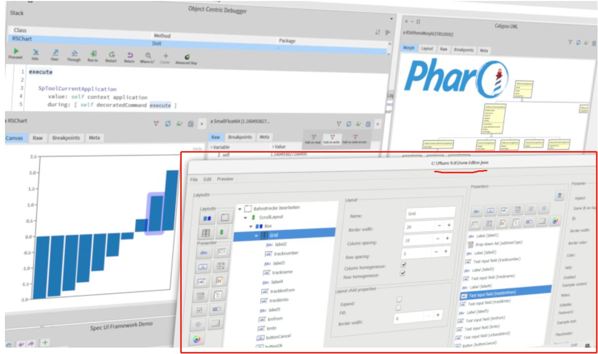 pharo9 form editor